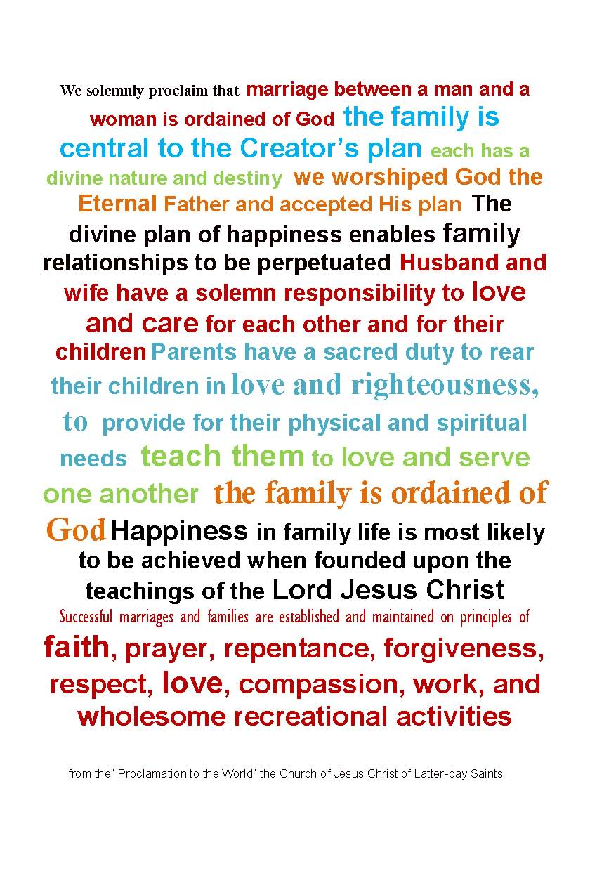 graphic relating to The Family a Proclamation to the World Printable referred to as The Household: Proclamation towards the Earth - Purple Polka Dot Creations