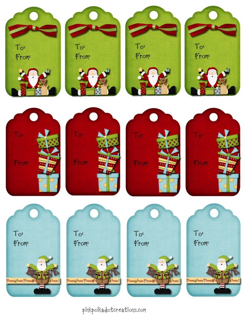 Christmas Printables - Pink Polka Dot Creations