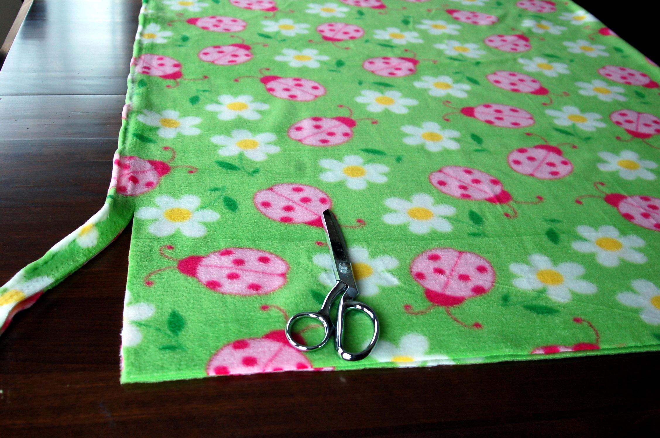Fleece Blanket Edging Ideas - Then