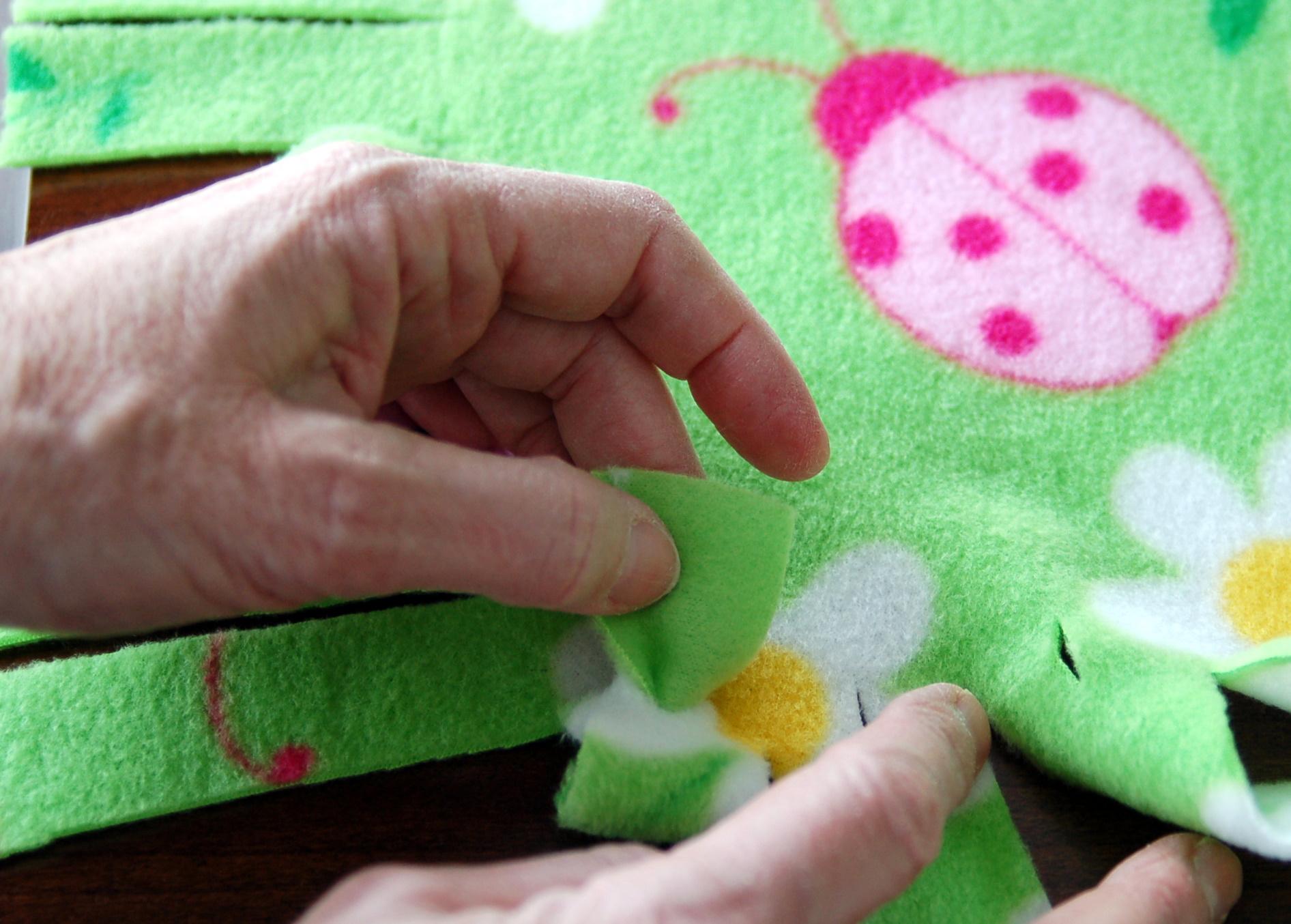 4acb5dc275 Fringed Fleece Blankets - Pink Polka Dot Creations