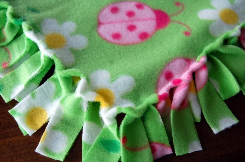 Fringed Fleece Blankets Pink Polka Dot Creations