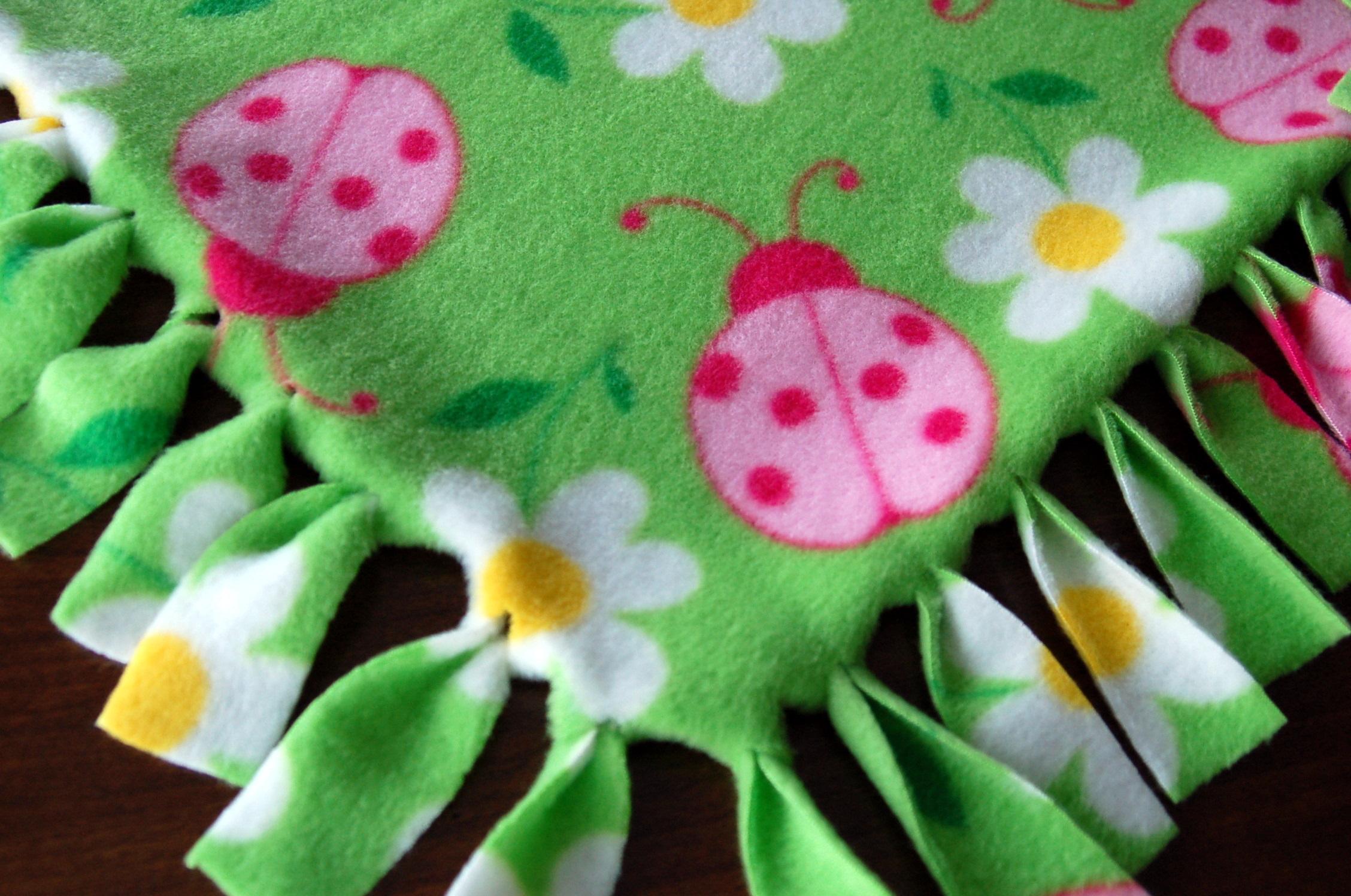 Fringed Fleece Blankets Pink Polka Dot Creations