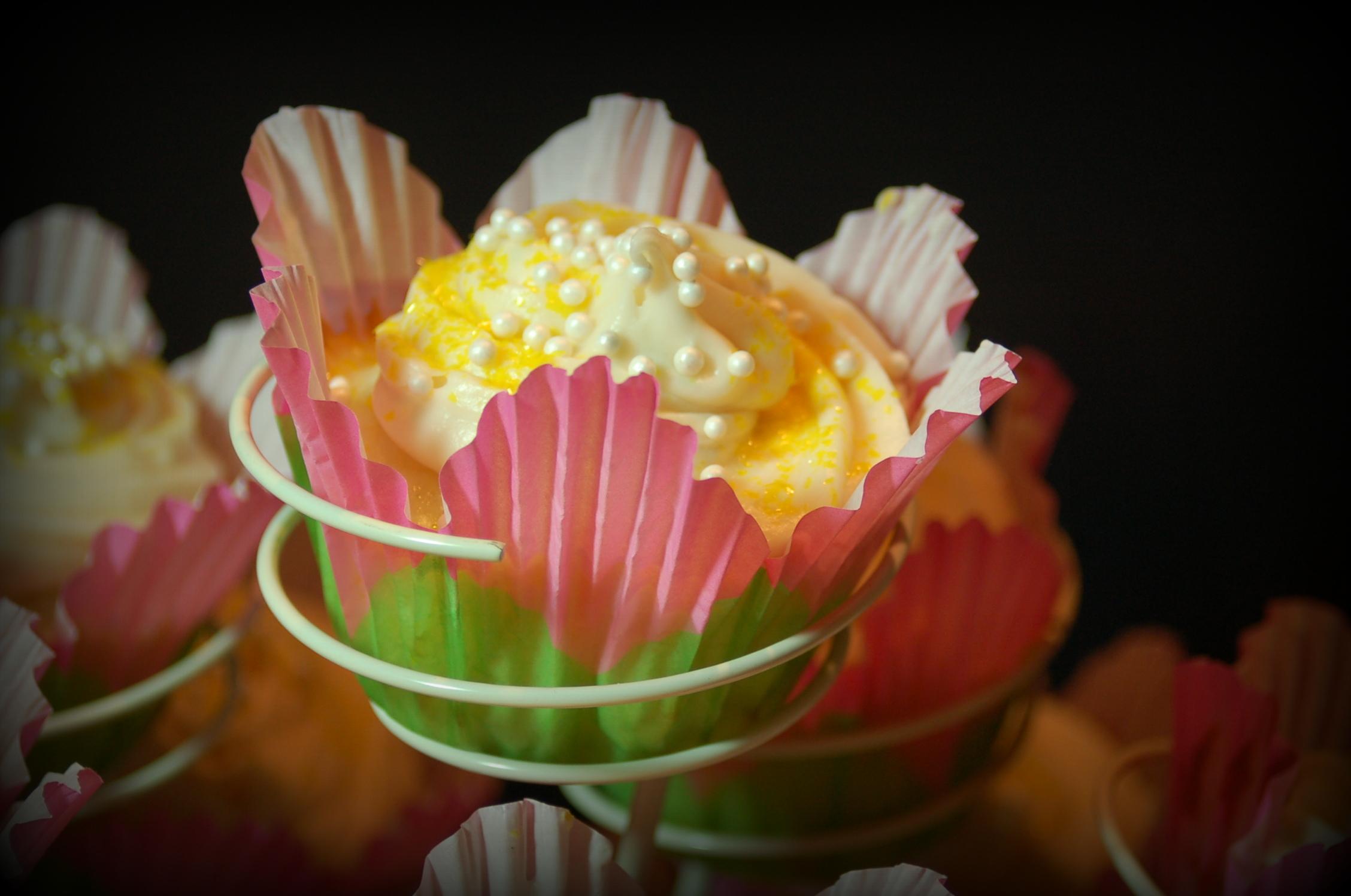 Lemon Cream Cupcakes - Pink Polka Dot Creations