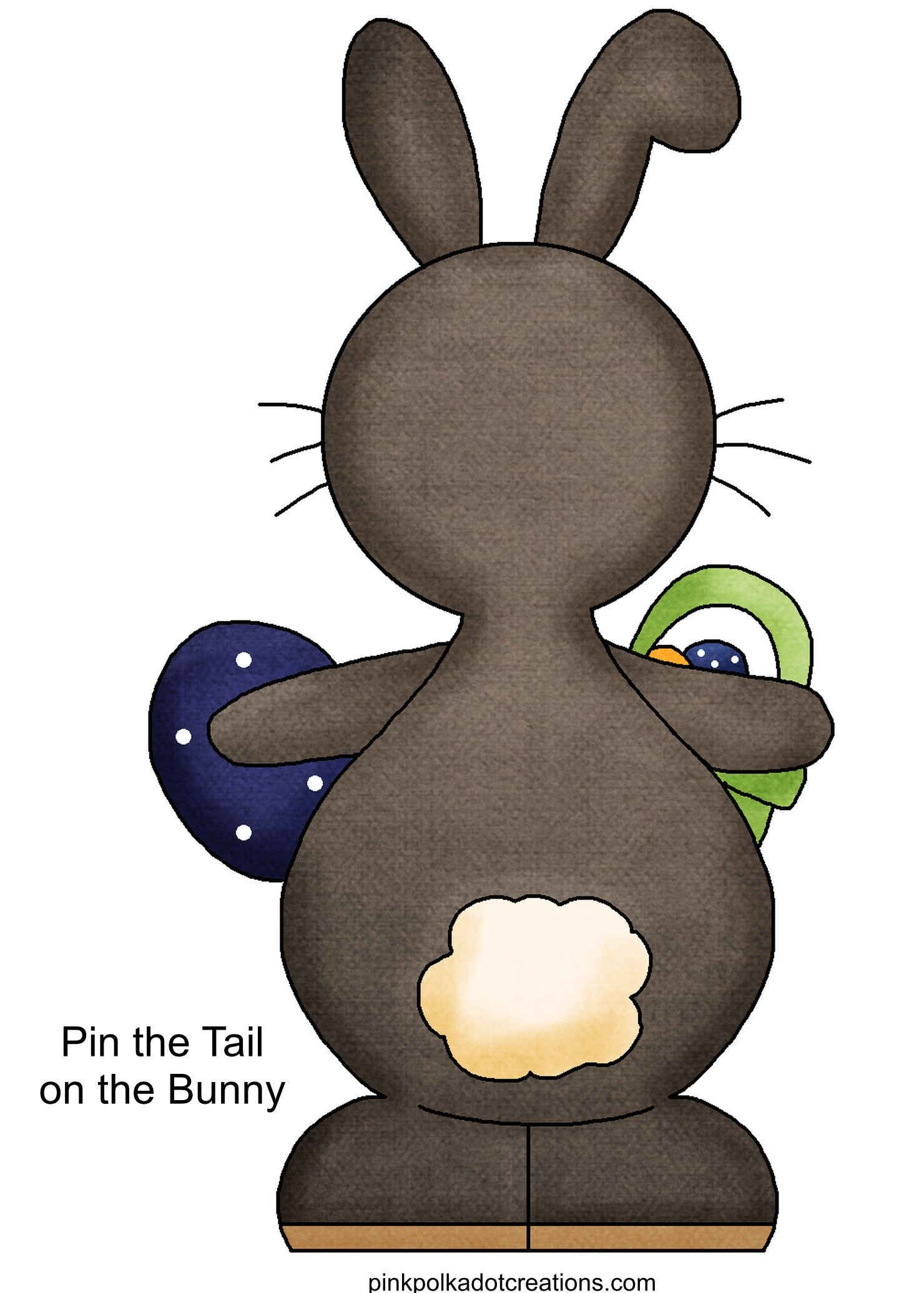Free Printable Pin the Tail On the Bunny