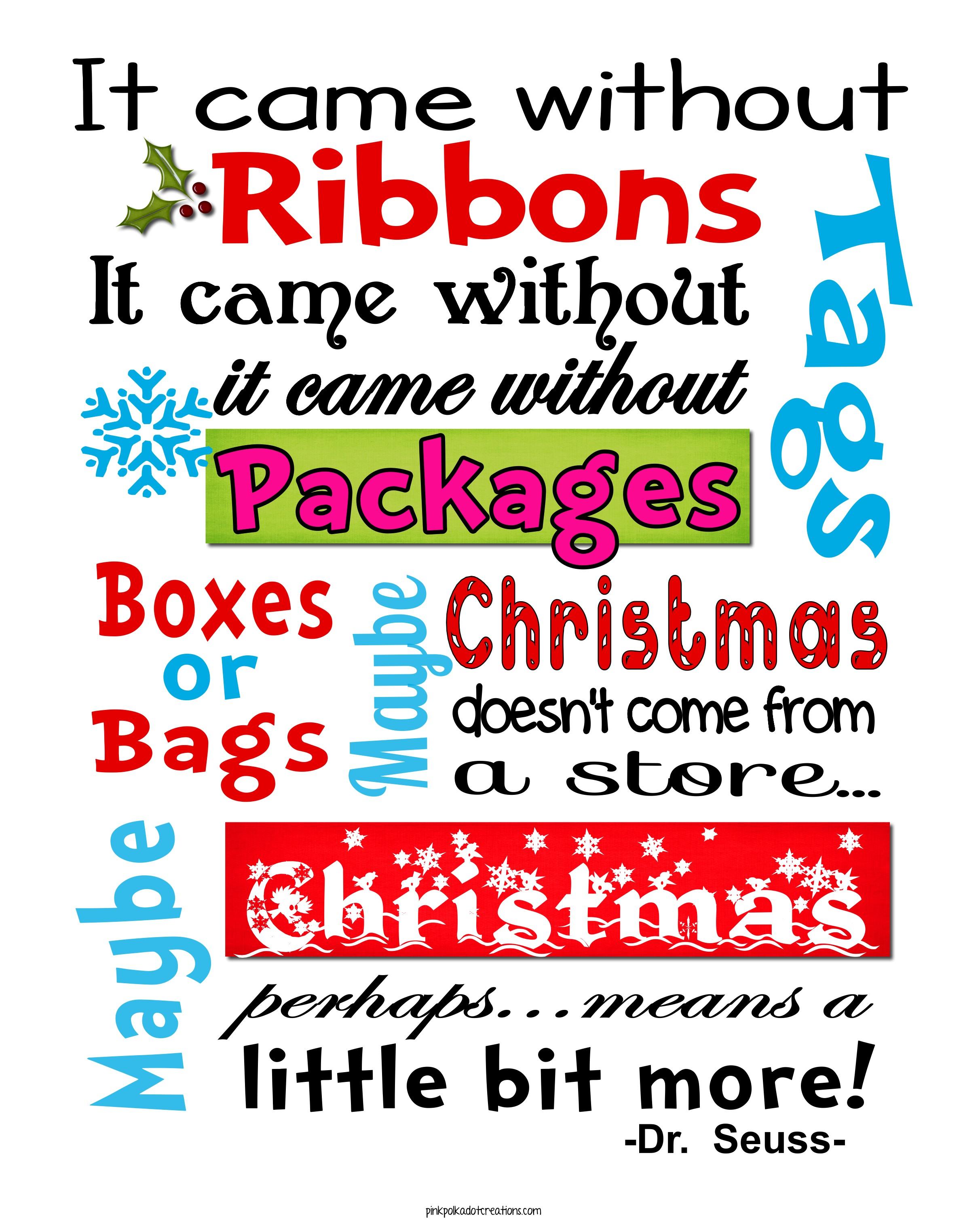 Whimsical Christmas Frame And Free Printables!