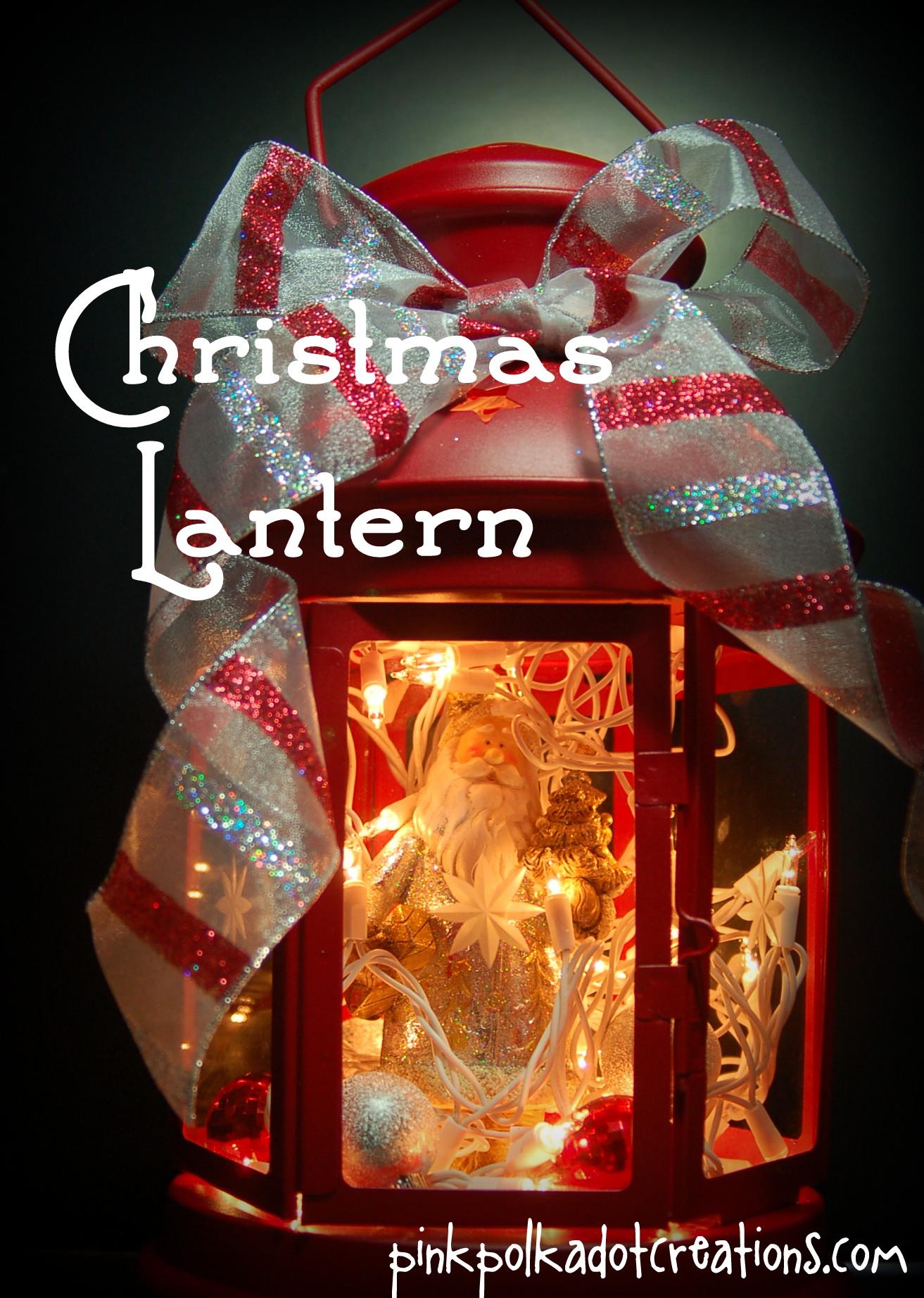 Light-up Christmas Lantern - Pink Polka Dot Creations