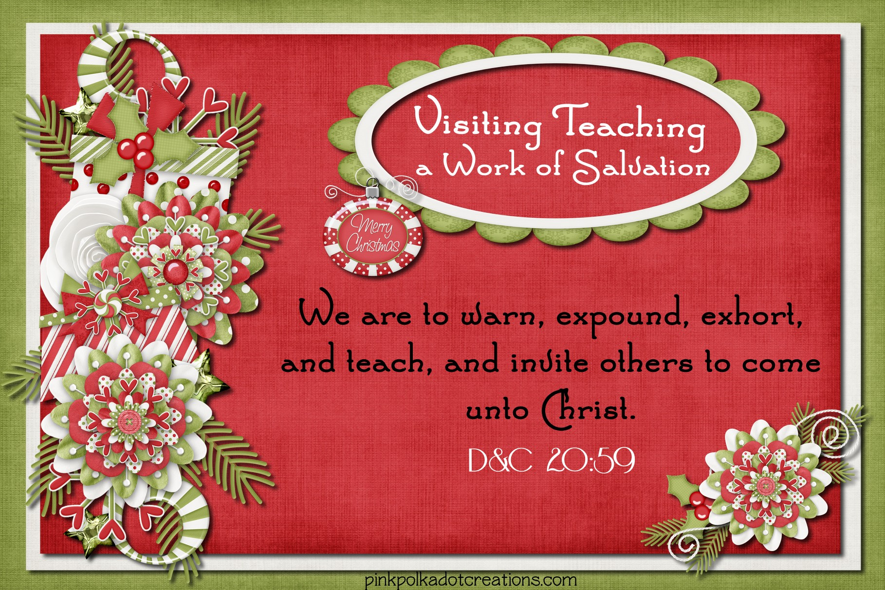 visiting teaching message Archives  Pink Polka Dot Creations