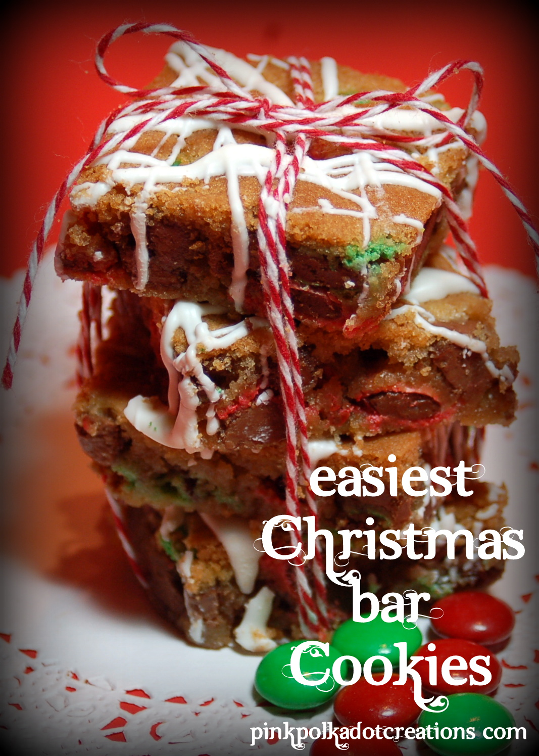 m m christmas bar cookie - Christmas Bar Cookies