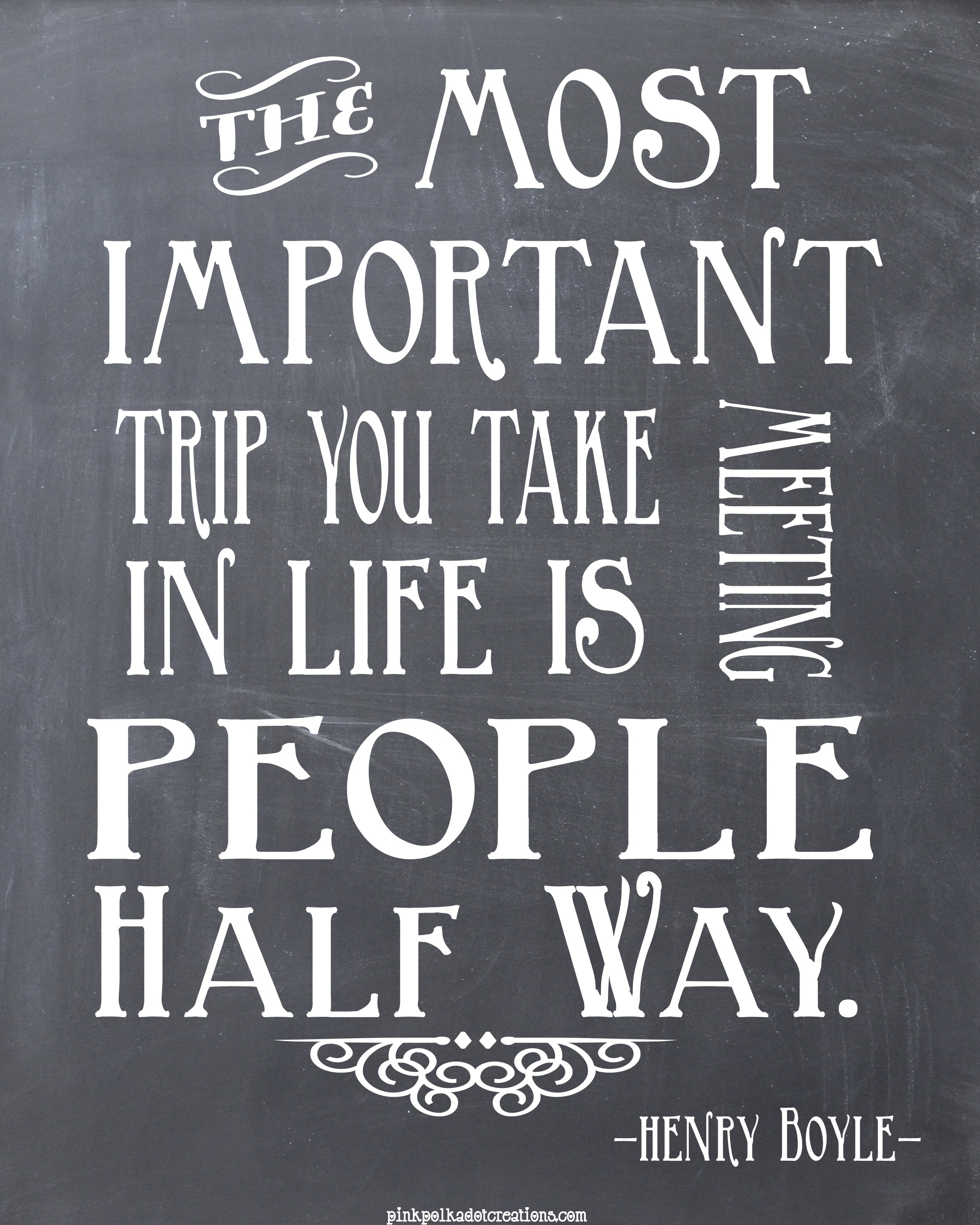 Thursday's Thought-The Most Important Trip...