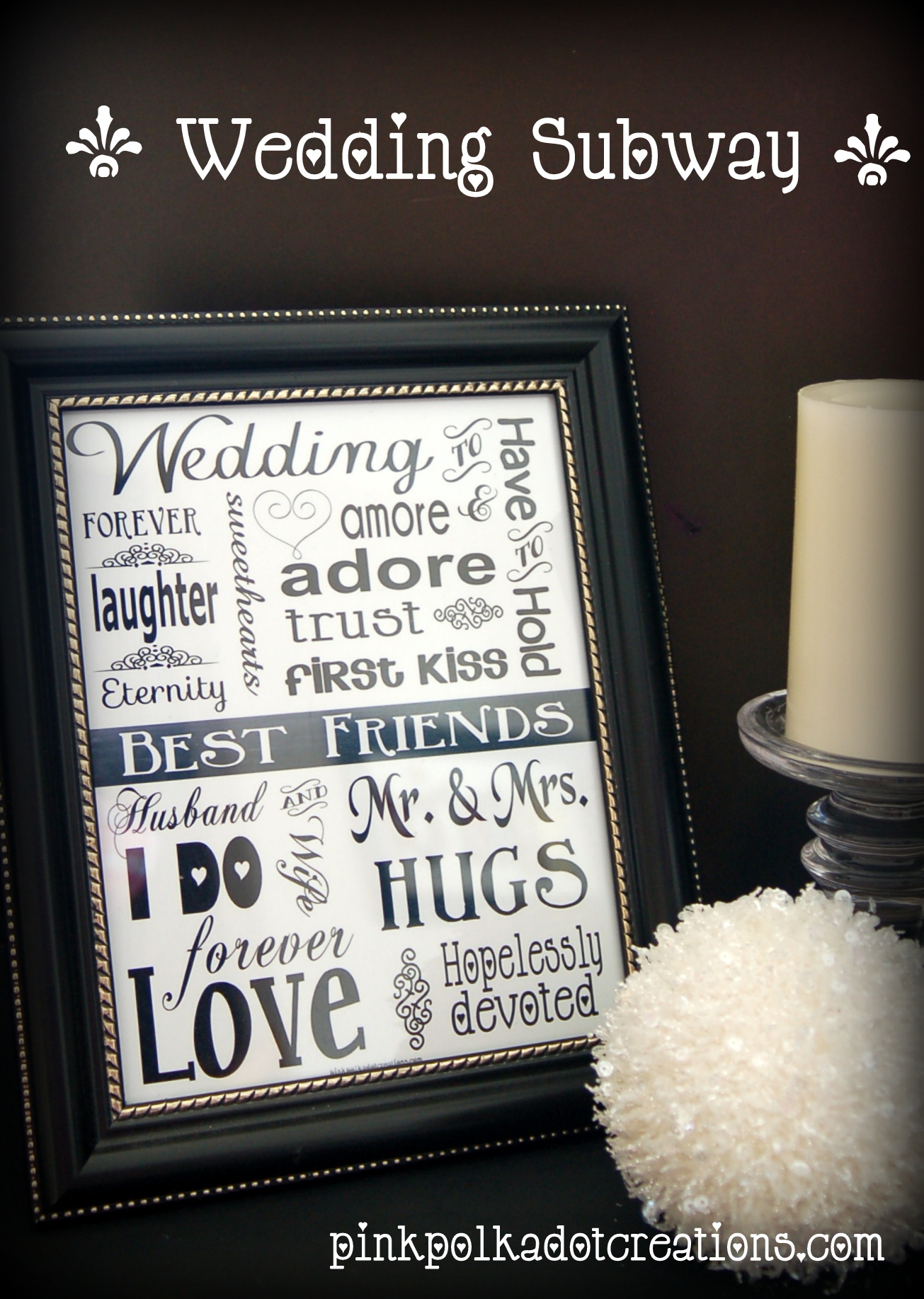 Wedding Gift Subway Art : This has been a fun wedding gift that my daughter and I have used ...