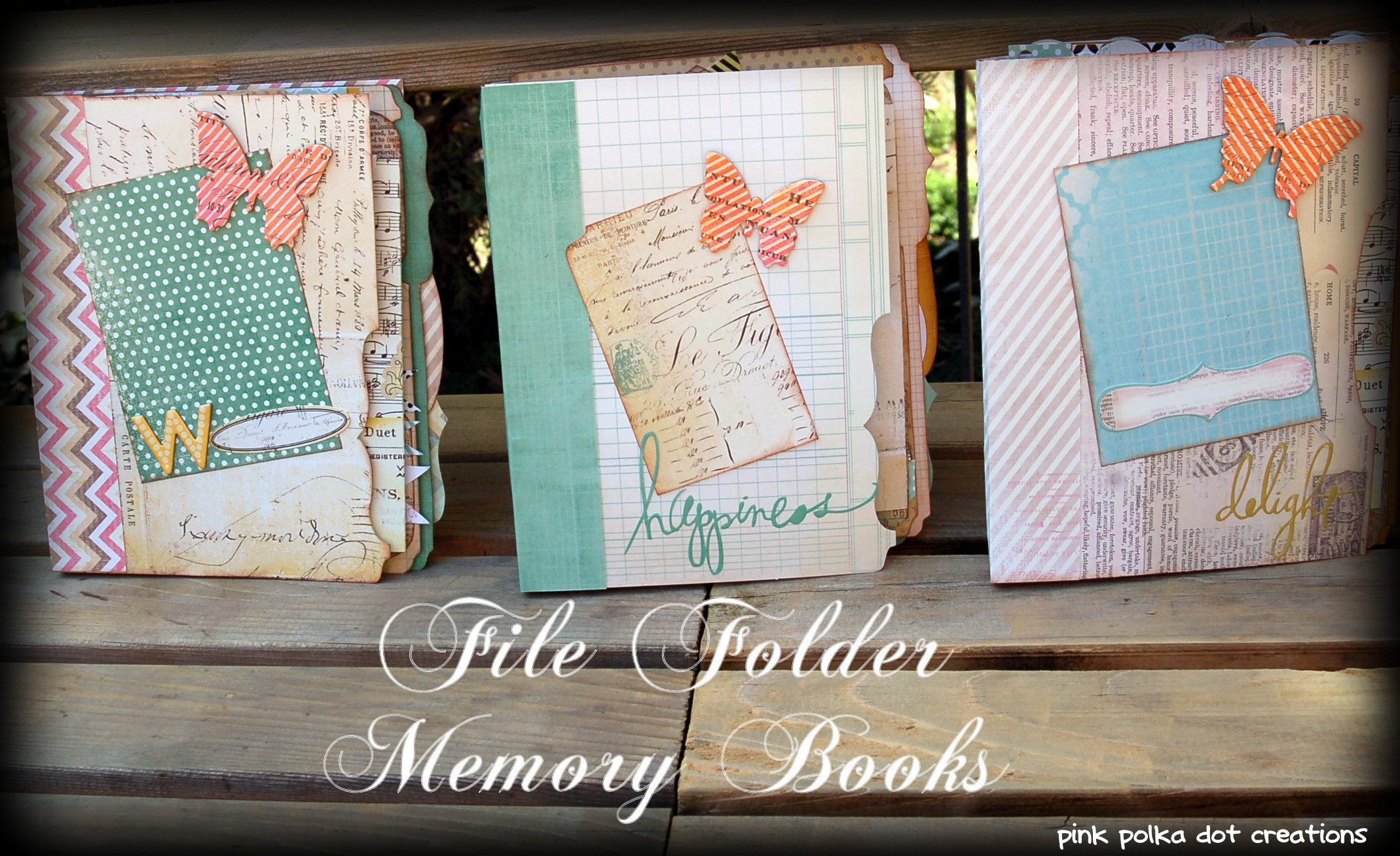 File Folder Memory Books Pink Polka Dot Creations