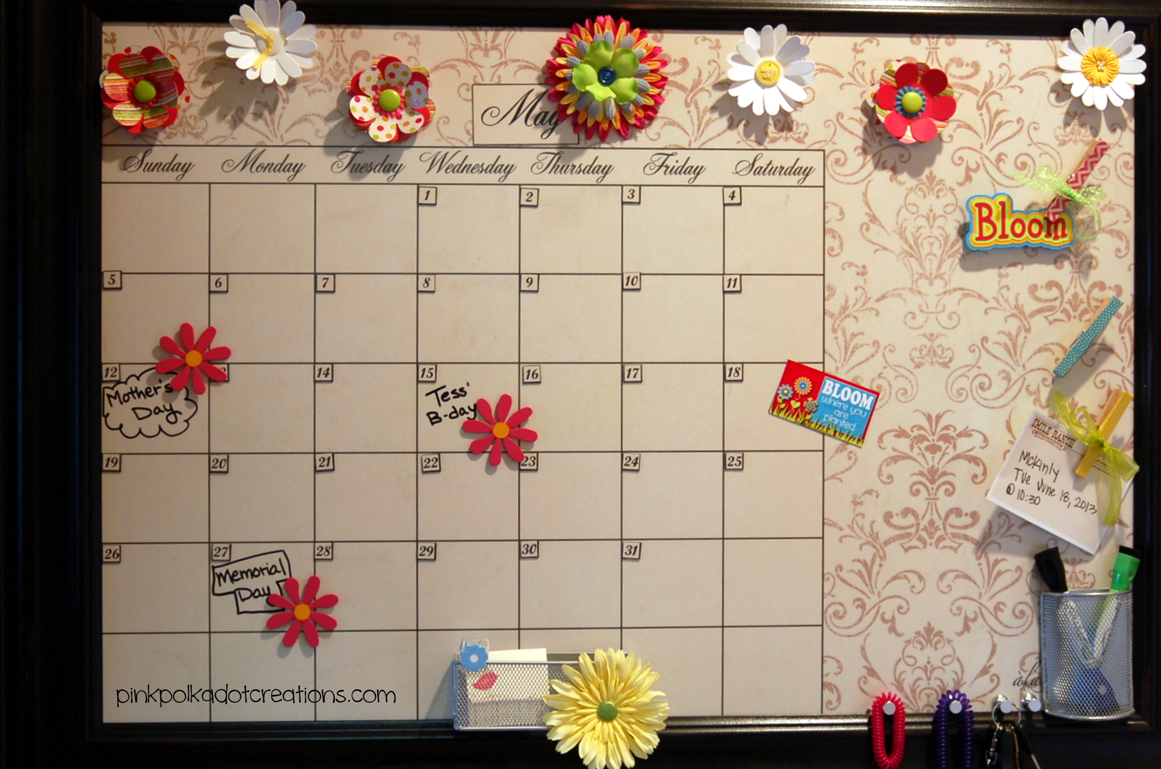 May Calendar Ideas : May calendar ideas pink polka dot creations