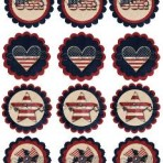 Patriotic Cupcake/Straw toppers