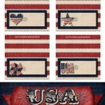 Patriotic Name Cards & Small Sign