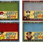 Ahoy Matey Bag Toppers/Name Cards