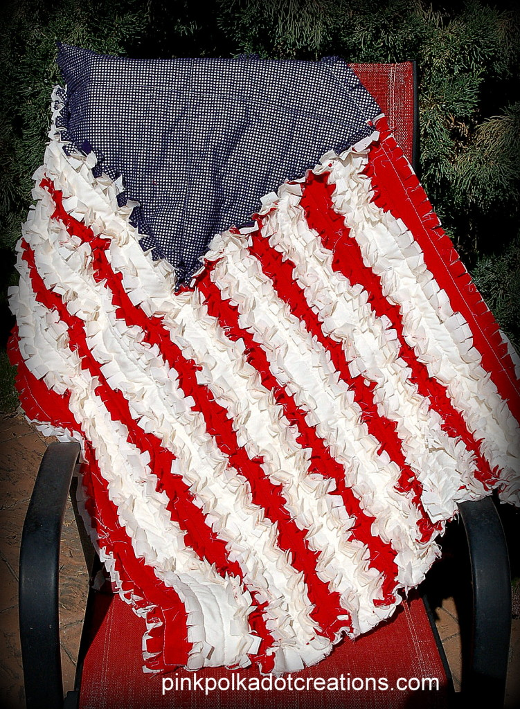 Flag Rag Quilt - Pink Polka Dot Creations