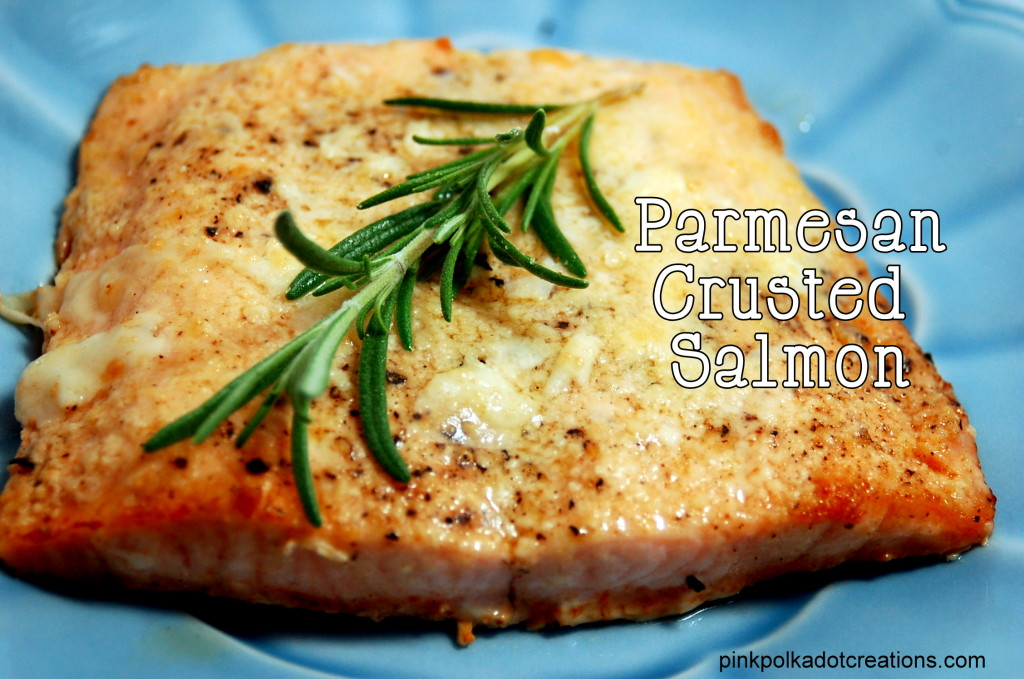 Parmesan crusted salmon pink polka dot creations for Parmesan crusted fish