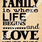 Family is Where Life Begins…