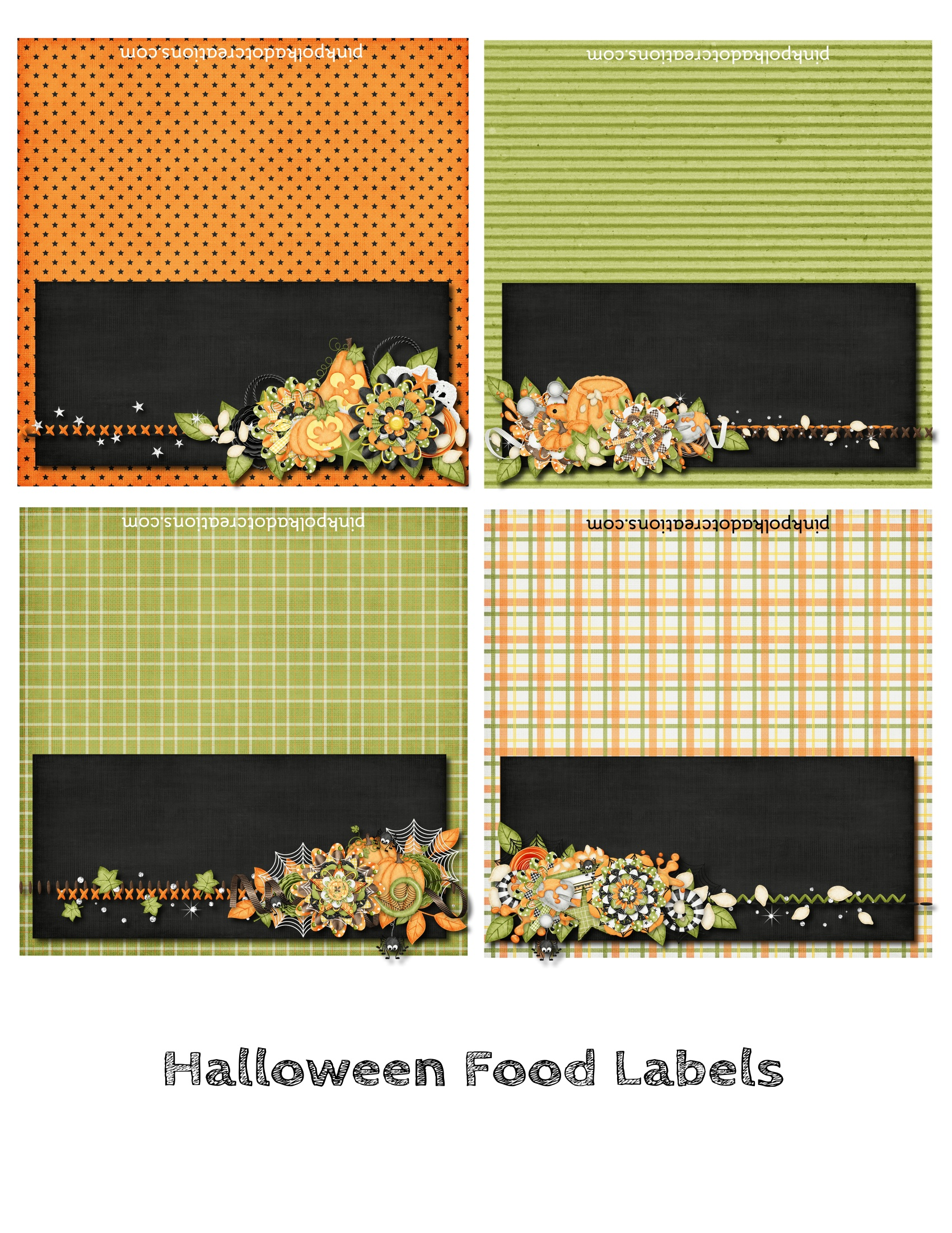 halloween food labels 010 blank labels pink polka dot creations
