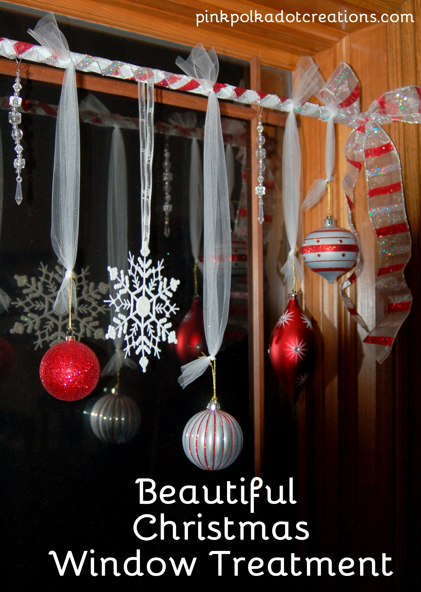 Christmas window treatments pink polka dot creations for Christmas decoration for inside the house