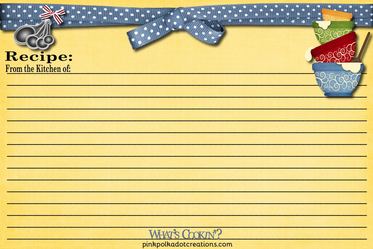 Recipe Cards And Book Recipe Cards 000 Page 1