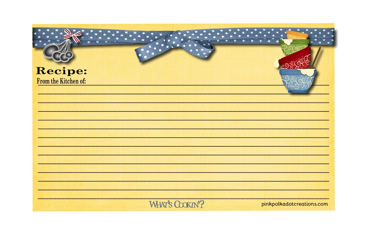 Recipe Cards! - Pink Polka Dot Creations