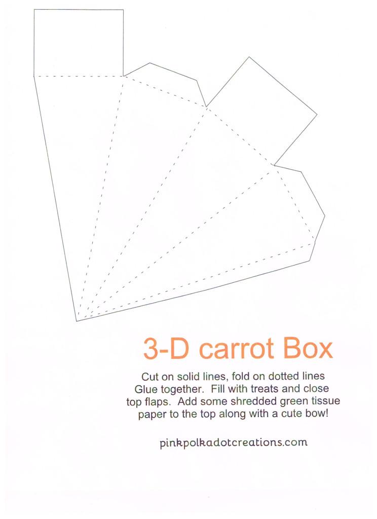 3-D Carrot Box
