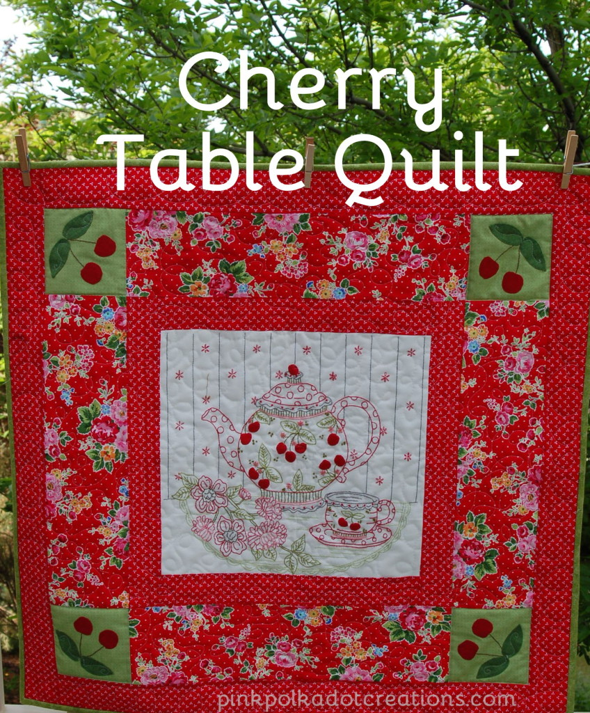 Cherry Table Quilt