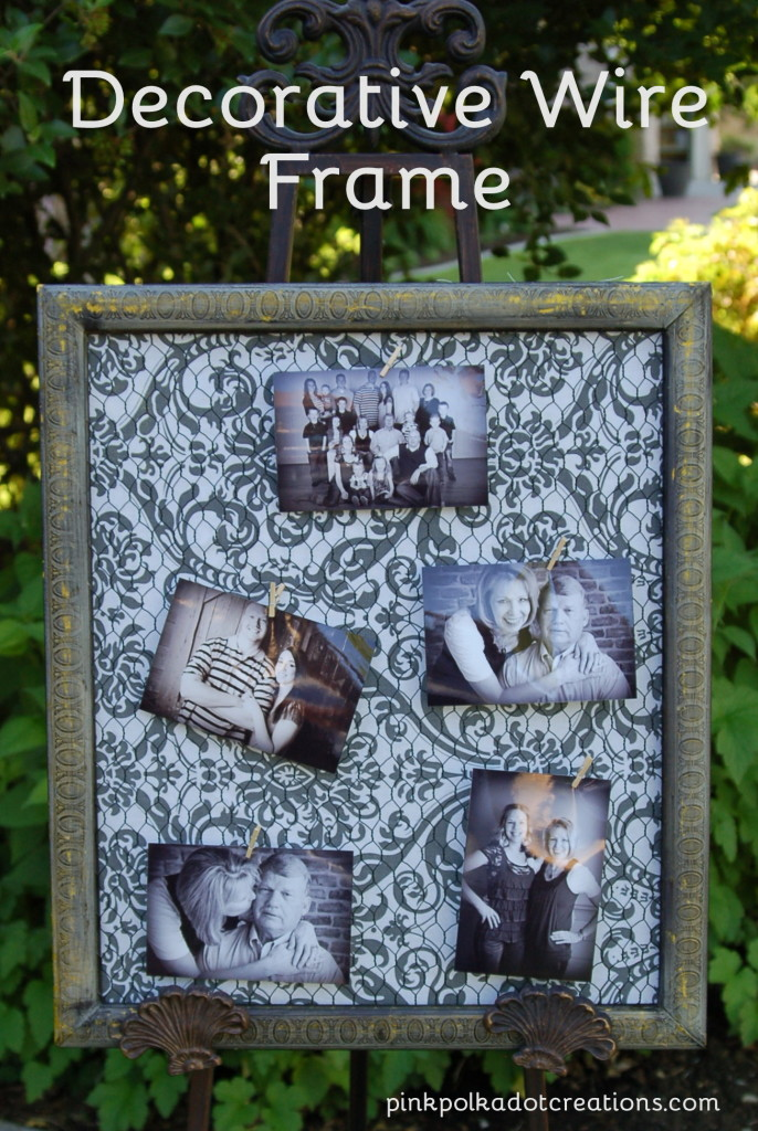 Decorative wire frame