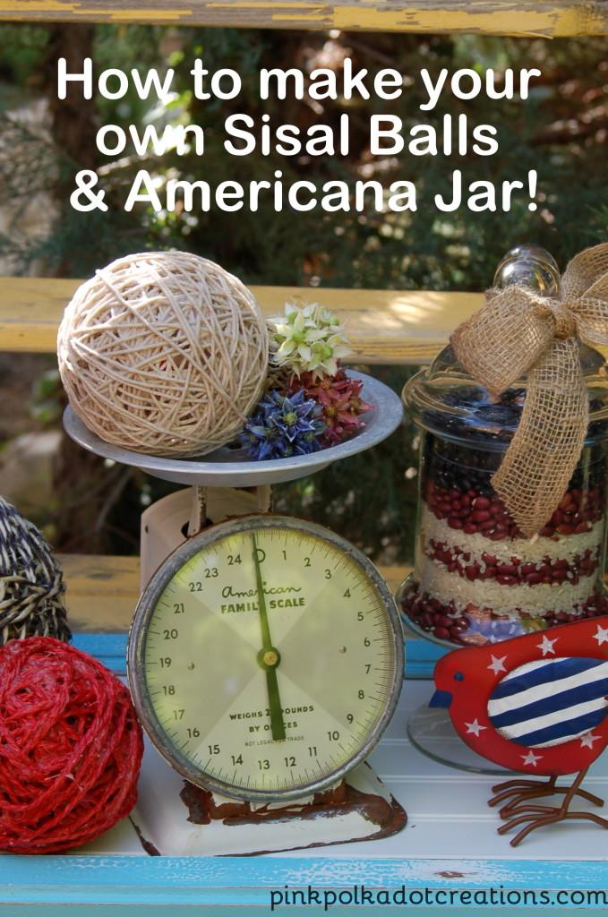 Sisal Balls &Americana Jar