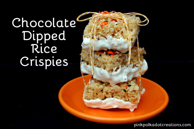 chocolate dipped rice crispies