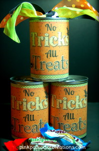 Halloween soup cans