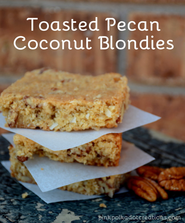 Toasted Pecan Coconut Blondies