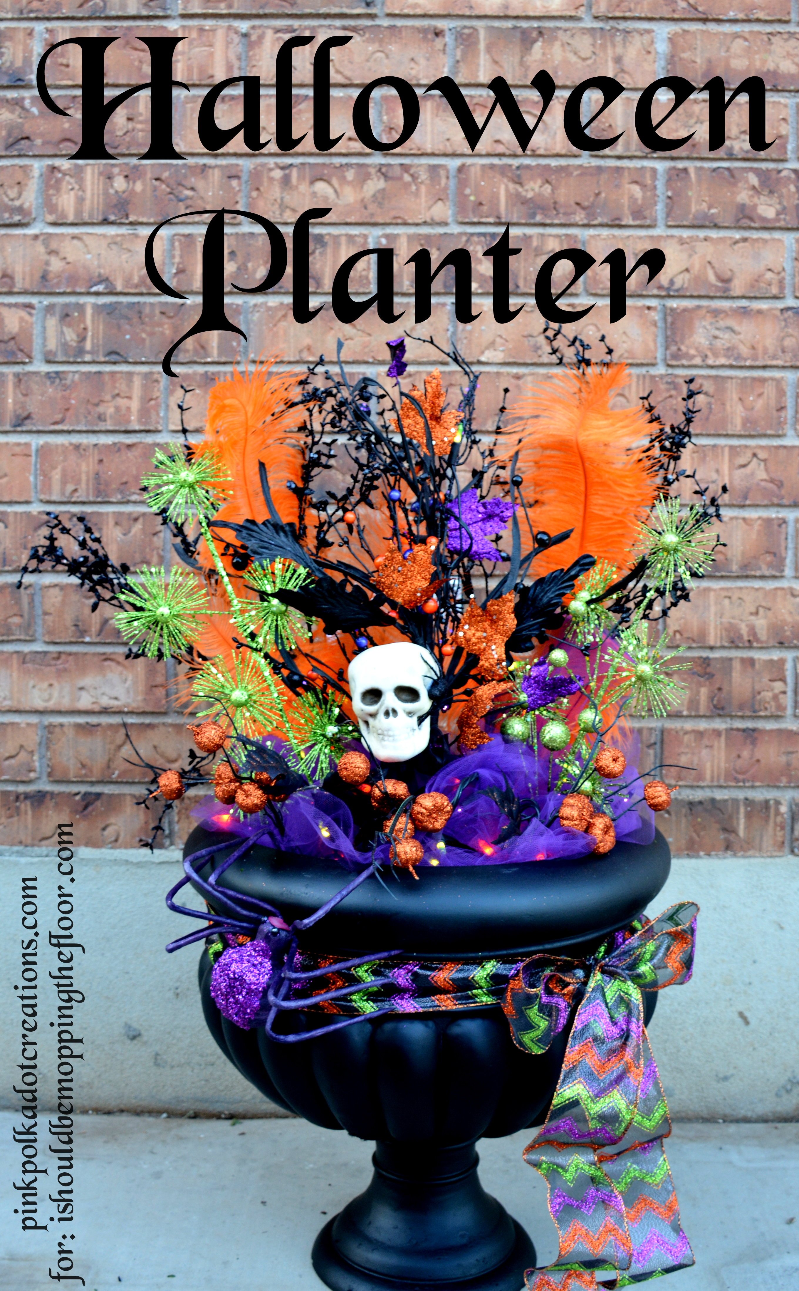 Halloween Planter Guest Post Pink Polka Dot Creations