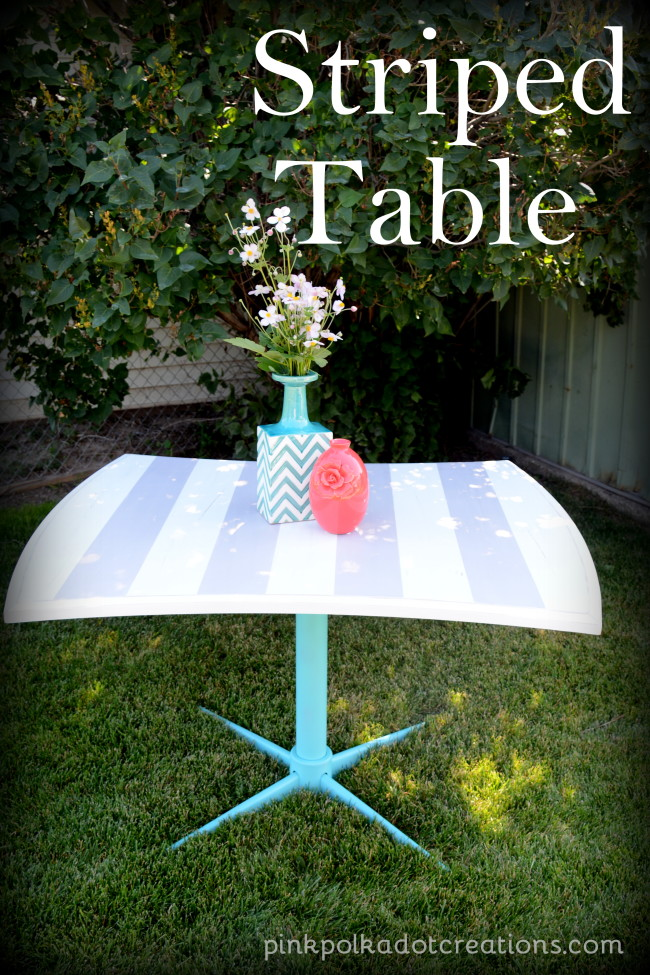 striped table make-over