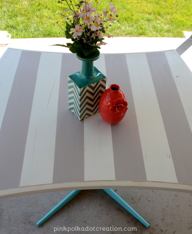 striped table top