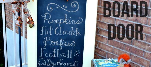 Fall Chalkboard Door