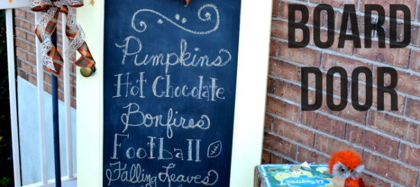 Fall Chalkboard Door