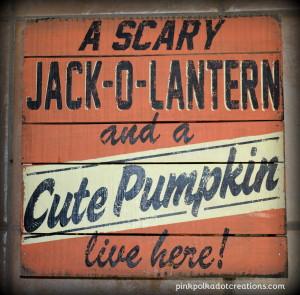a scary jack-o-lantern