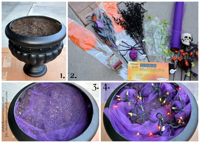 Halloween Planter | A fun and simple project to give your porch that spooky touch!