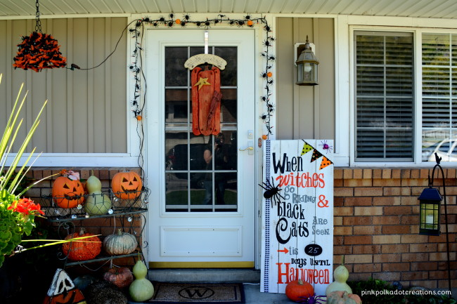 Halloween Porch Pink Polka Dot Creations