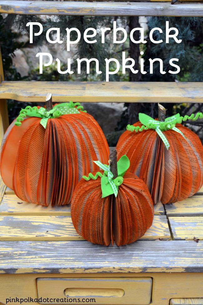 Paperback Pumpkins/Pink Polka Dot Creations