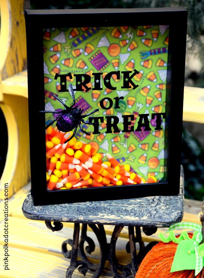 trick or treat shadow box