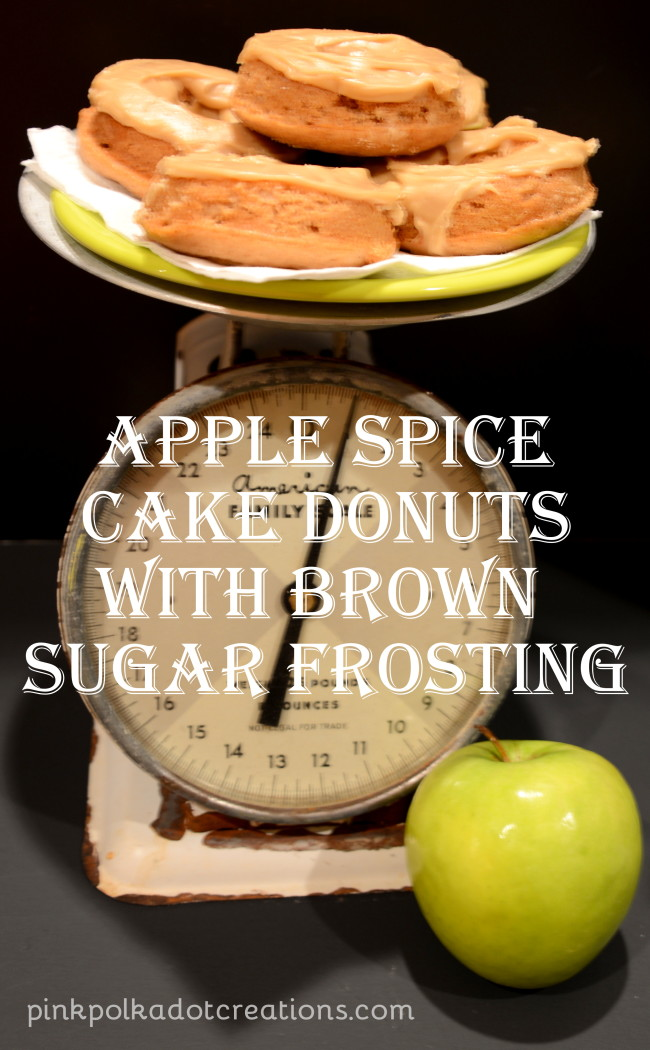 apple spice donuts with brown sugar frosting