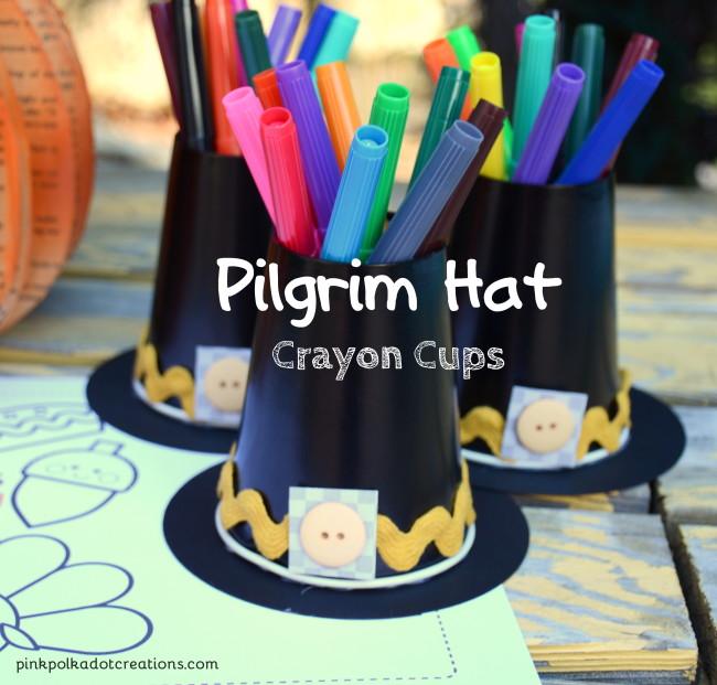 Pilgrim Hat crayon cup