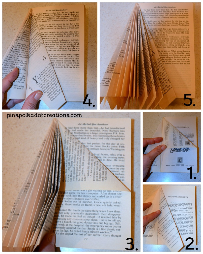 how to make book trees