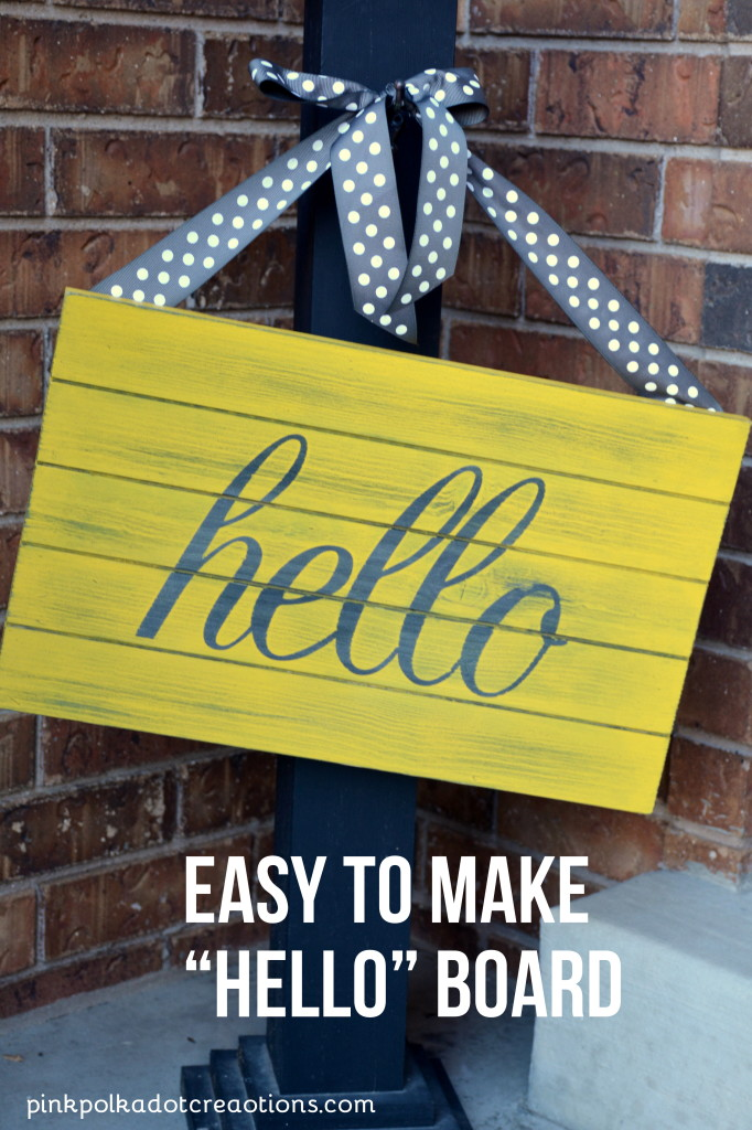 """hello"" welcome board"