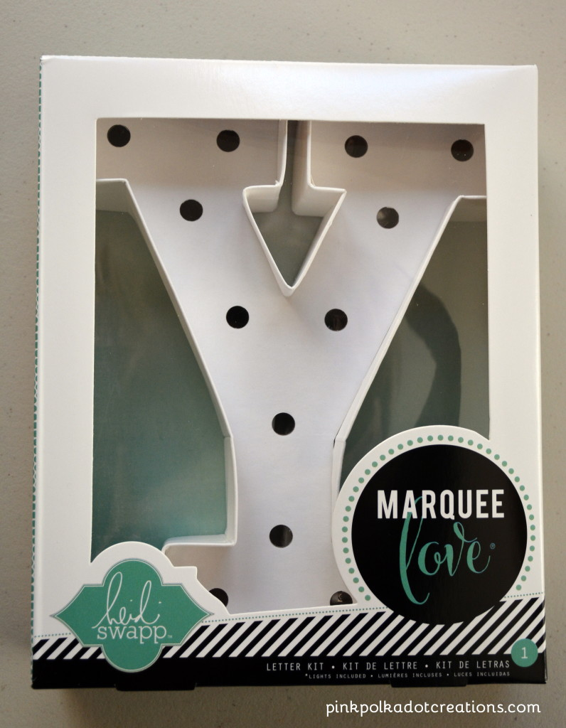 Marquee letter kit