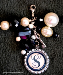 monogram bottle cap charms