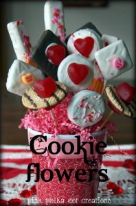 Valentine cookie bouq